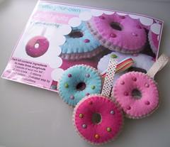 july 2010 freebie (paper-and-string-on-flickr) Tags: uk food cute diy stitch sewing craft felt blanket donut doughnut kit paperandstring