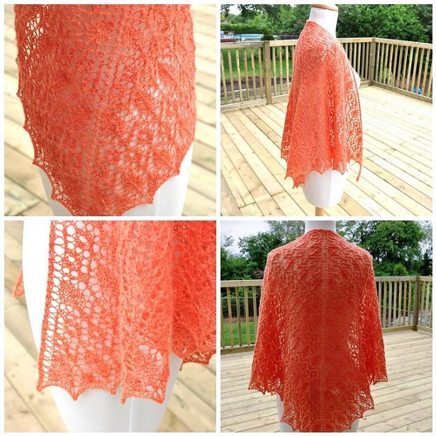 Prairie Rose Lace shawl 2