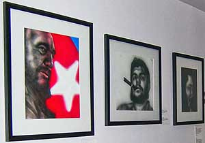 Art work of Cuban 5 political prisoner Antonio Guerrero was on display at the Virgil H. Carr Gallery in downtown Detroit. The opening was held during the USSF that took place between June 22-26, 2010. (Photo: Megan Spencer) by Pan-African News Wire File Photos