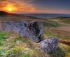 West Lomond Sunset (Mike Cumming) Tags: sunset cloud west scotland rocks fife lomond hdr d300 tonemapped passiondéclic