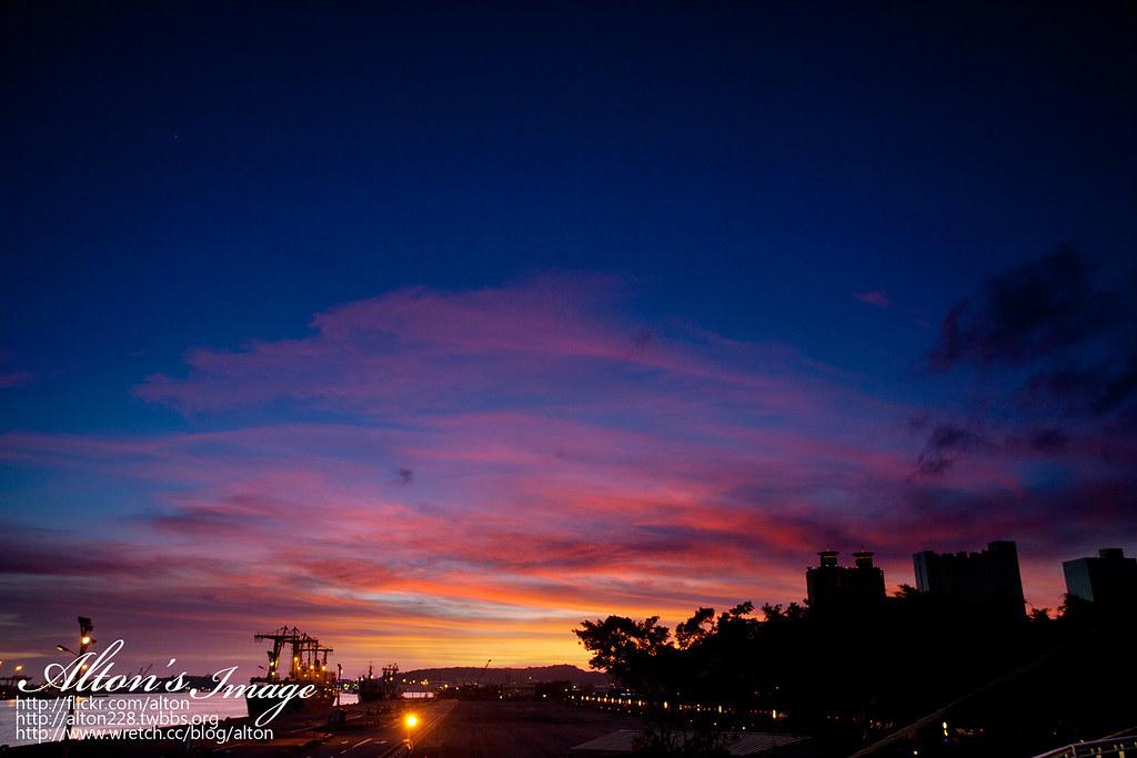 高雄夜景與日落