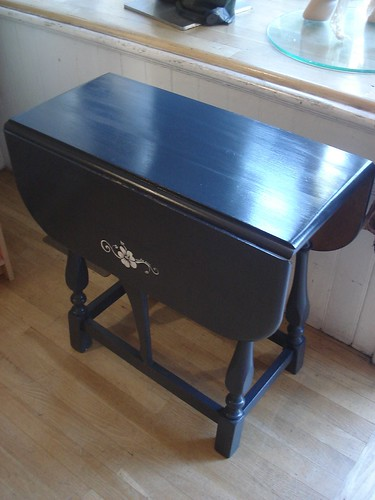 charcoal drop leaf table