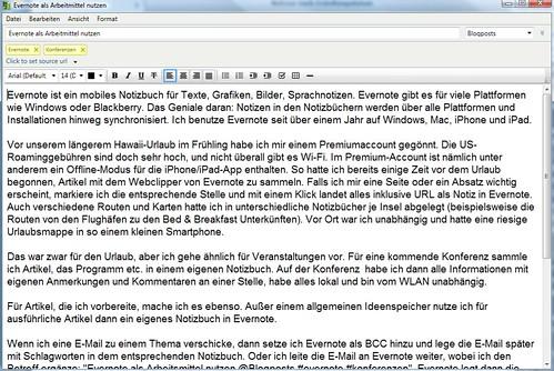 Evernote als Arbeitsmittel nutzen (Windows)