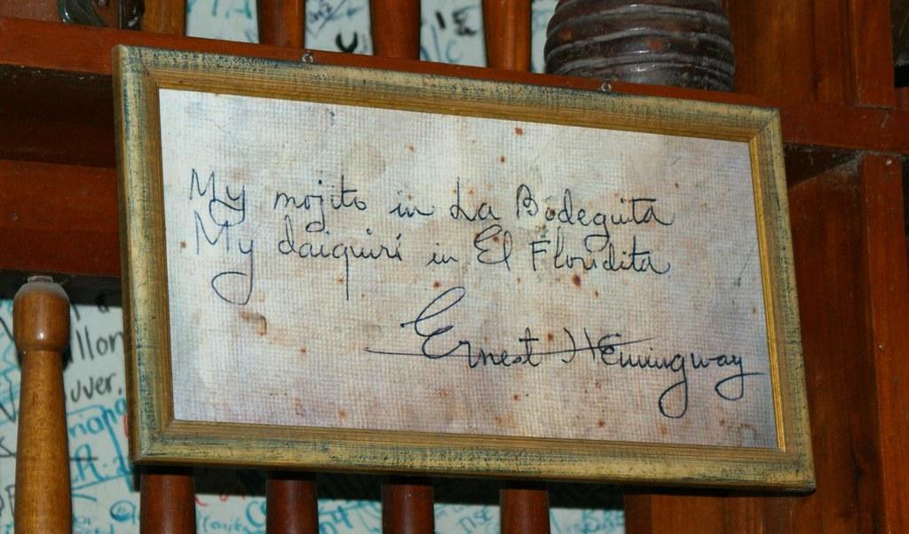 Ernest Hemingway la Bodeguita de en Medio