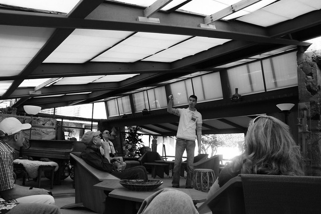 Taliesin West, Tour Guide in Living Room