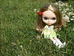 Olivia little flower girl