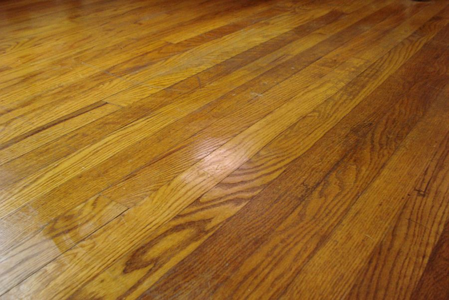 Wood floors during