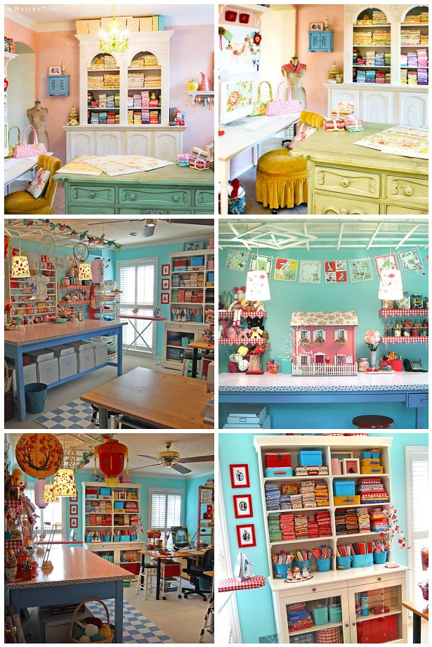 "Favorite ""Famous"" Sewing Rooms"
