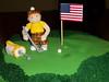 Golf Theme Birthday Cake (Yahairam) Tags: birthday green cake golf strawberry flag american hexagon vanilla golfer tweets fondant cakery