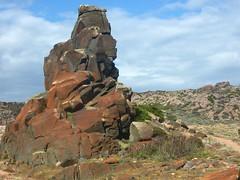 Sentier Nord Capu di Fenu - La Tonnara : rochers originaux