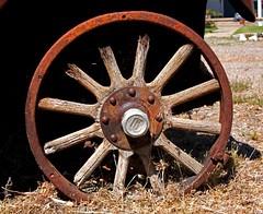 Wheel of 1924 Dodge Truck (Mysophie08) Tags: letters wheels round susanville gamewinner truckold pregamewinner