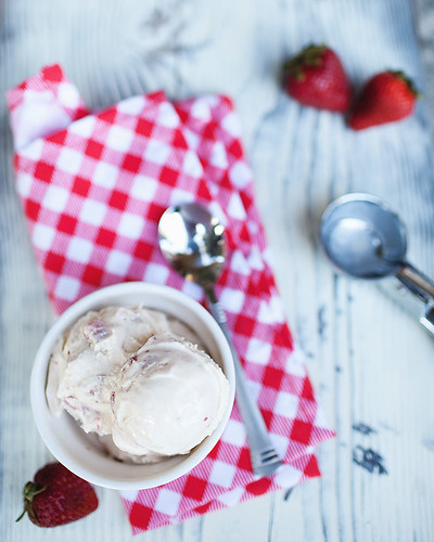 Strawberry-Vanilla Bean Swirl Ice Cream Recipes — Dishmaps