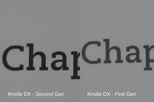 Side by Side Kindle DXs