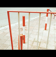 ORDER YOUR LIFE (Elena Fedeli) Tags: red italy white italia stripes carpark rosso bianco puglia slope bari parcheggio rampa apulia striscie