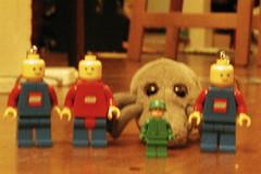 dust mite & giant lego army