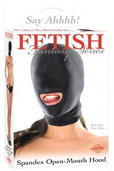Spandex Open Mouth Hood (Temptations Sex Toys) Tags: bdsm handcuffs floggers restraints paddles fetishwear ballgags bondagegear bondagerope