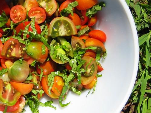 homegrown salad