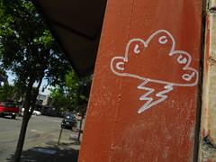 6/22/2010 4th & Wanklin (sixheadedgoblin) Tags: cloud scrawl publicart olympiawashington 4thwanklinalley