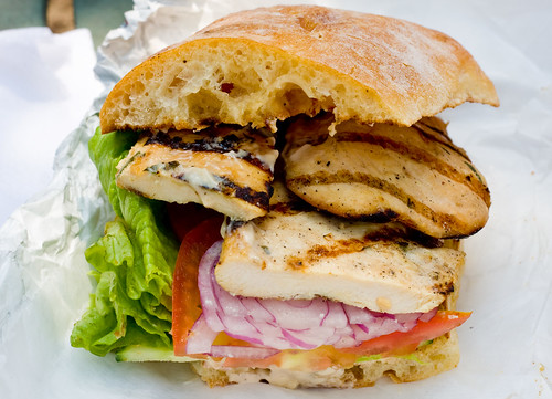 Balsamic grilled chicken sandwich, Friedman's Lunch