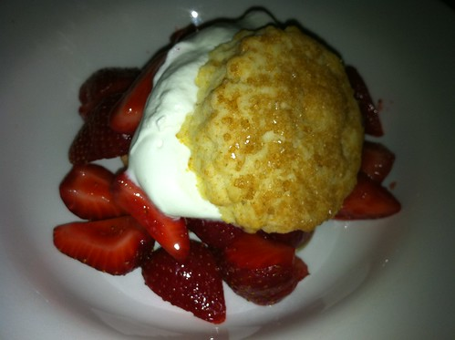 Seascape Strawberry Shortcake with Rose Geranium Cream