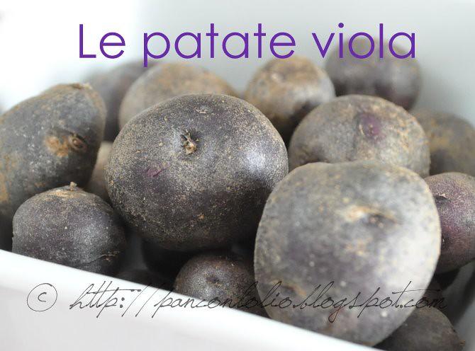 il raccolto di patate viola