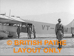1935 QUETTA EARTHQUAKE: Viceroy at Quetta: WS. Plane landing bringing the Viceroy of India Lord Willingdon arriving at Quetta to inspect the damage caused by an earthquake that destroyed the city. LS. People disembarking. WS. Officials walking away from t (myprivatecollection12) Tags: from city people india by plane walking that earthquake away lord an landing damage bringing destroyed ls viceroy 1935 ws arriving caused officials disembarking quetta inspect willingdon