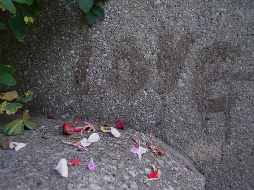 Love scrawls itself everywhere