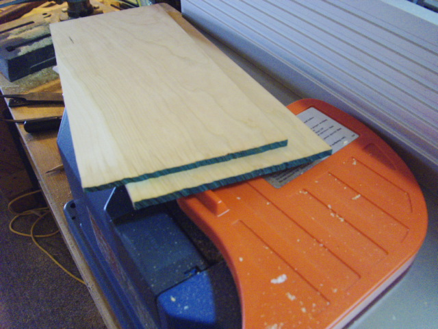 Planed Cherry Panels for Tray Bottoms