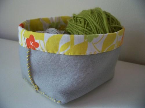 hand sewn felt box