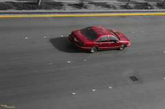 Yellow and red (Abdulrahman Alkhozaim -) Tags: road street red chevrolet yellow photography row  soapdish  caprice    thoroughfare