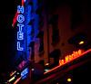 montparnasse hotel (justonlysteve) Tags: paris france sign night hotel neon montparnasse 5014 d700
