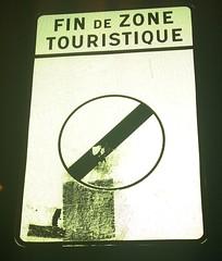 Fin de zone touristique
