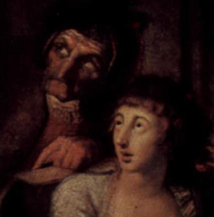 Füssli_détail1 Lady Macbeth Somnambule
