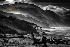 coastal breeze (louie imaging) Tags: ocean sf white black beach fog clouds landscape bay coast san francisco raw pacific fort jazz romance coastal area funston interpret pictorial vibe