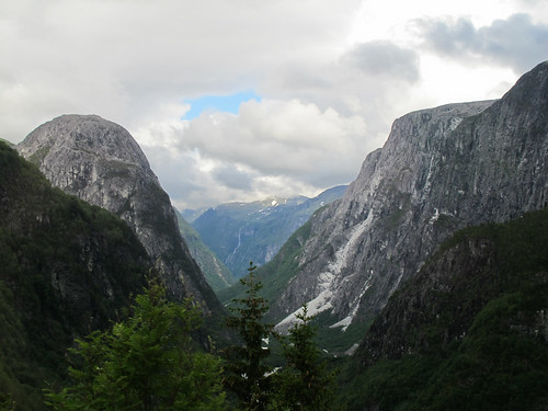 View Towards the Fjord - Stalheim, Norway