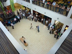 A speach in the atrium