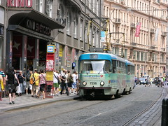 2010-07-13 Praha Tramway Nr.7256 (beranekp) Tags: street town czech prague trolley strasse tram prag praha stadt tramway strassenbahn tramvaj tranvia elektrika elektrika alina
