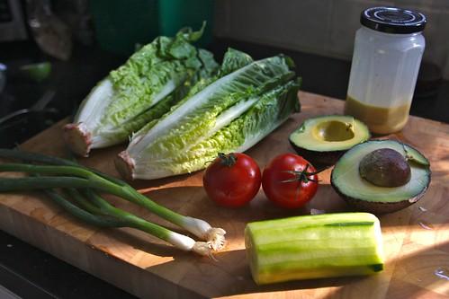 ingredients in salad