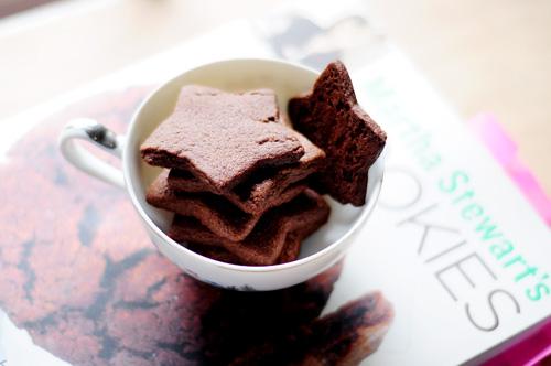 cocoa shortbread stars