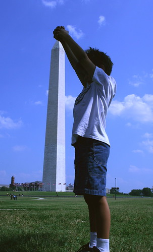 7/16/10 - Trying to pull down the Monument.
