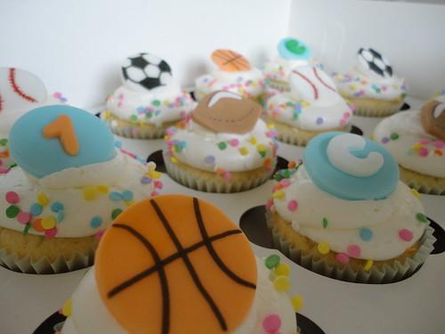 1st birthday party, sports theme.