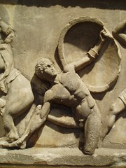 Greek Warrior (Aidan McRae Thomson) Tags: sculpture london ancient mausoleum classical britishmuseum antiquity artemisia halicarnassus mausolos sevenancientwonders