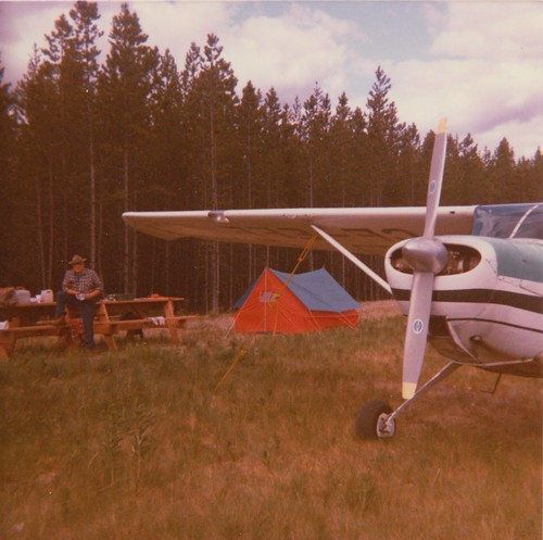 GF Cave camping at Dease Lake on 1986 air trip to the Yukon.