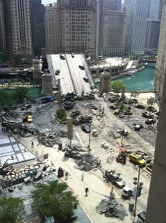 Transformers 3 Sunday filming