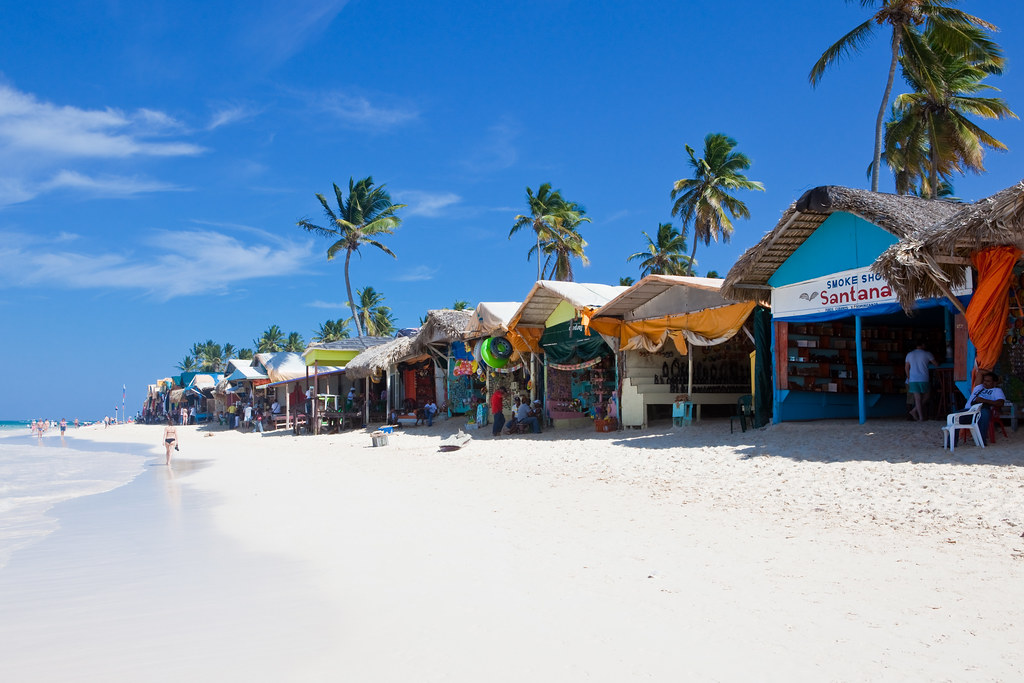 The market on the beach in Punta Cana