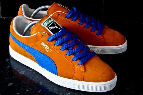 puma suede classic bleu orange