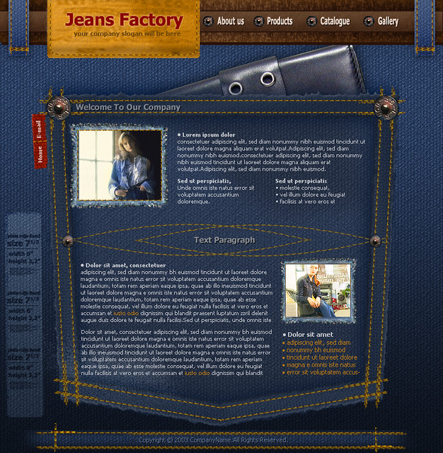 Web Templates 786: Free Flash Website Template Jeans Company