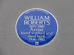 Photo of William Roberts blue plaque