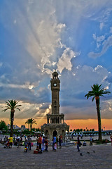 Clock Tower (Zeki ztrk) Tags: sunset tower clock turkey trkiye clocktower saat konak izmir gnbatm kule turkei saatkulesi platinumphoto crazyheart palmiyepalm