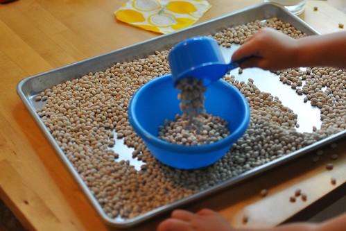 beans pour